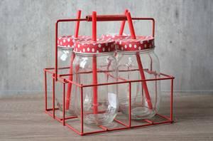 Bilde av Stativ med 4 glass, røde