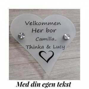 Bilde av Acryl skilt hjerte :
