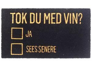 Bilde av Dørmatte Tok du med vin