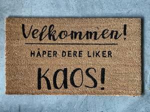 Bilde av Dørmatte Kaos 40x70cm