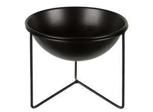 Bilde av Skål m/bordstativ sort metall