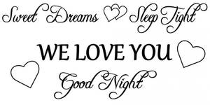 Bilde av Sweet dreams we love you