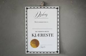 Bilde av Diplom 21x30 cm Kjæreste