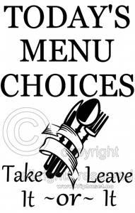 Bilde av Todays menu choices