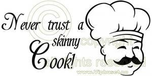 Bilde av Never trust a skinny cook med