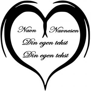Bilde av Hjerte med tekst
