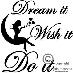 Bilde av Dream it , wish it , do it