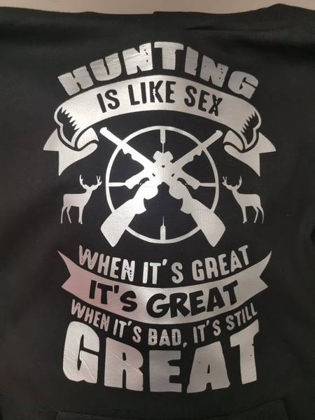 Hunting is like sex