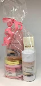 Bilde av PAKKE 3 Rosa pakke: Body Butter, Deo, Håndsåpe & Håndkrem