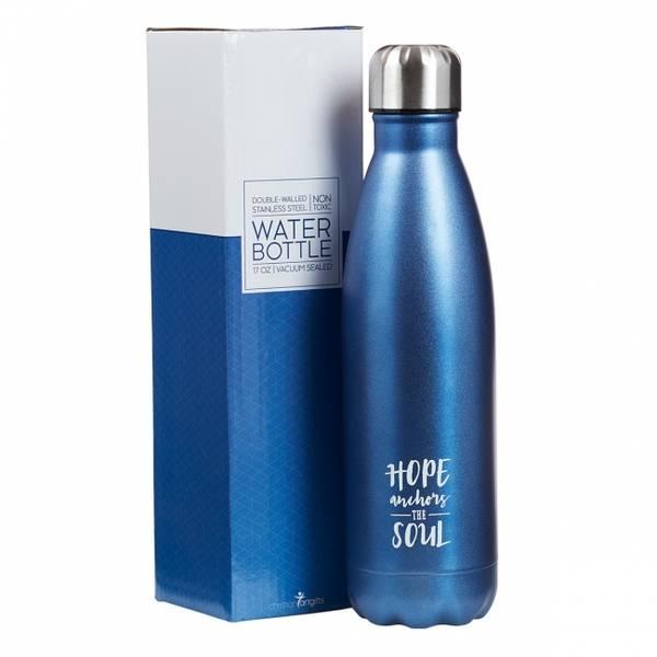 Vannflaske - Blå - Hebreerne 6:19 FLS007