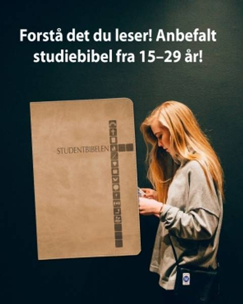 STUDENTBIBELEN – MØRK LATTE Pris 499,00