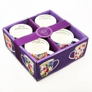 Bilde av KRUS 4 PAKK, SEEDS OF LOVE SET OF FOUR COFFEE MUG