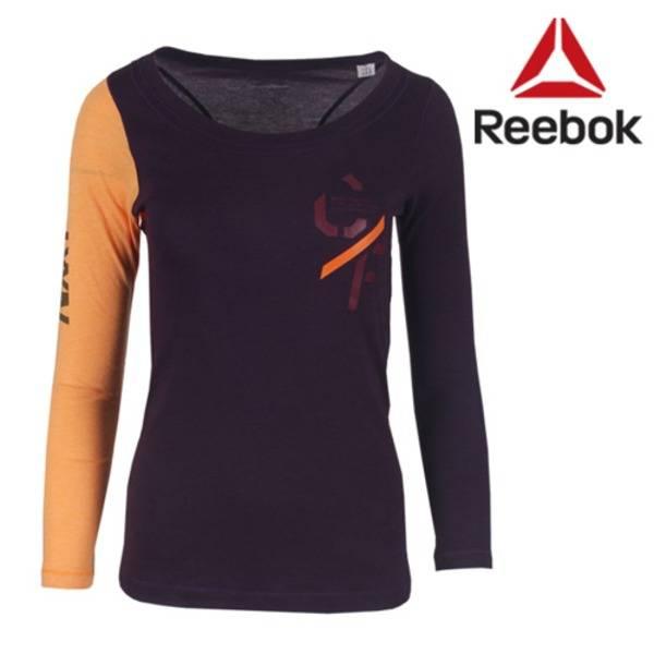 Reebok Long Sleeve Women Purple/Orange