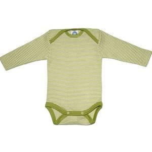 Bilde av Cosilana body ull/silke striper grønn