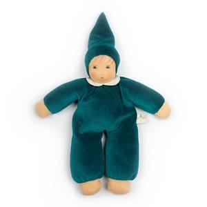 Bilde av Nanchen Natur myk dukke med krage blågrønn