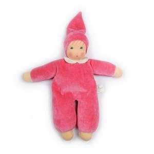 Bilde av Nanchen Natur myk dukke med krage rosa