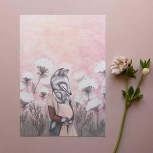 Bilde av Kajsa Wallin art print A4 Queen Anne's Lace