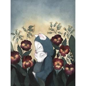 Bilde av Kajsa Wallin art print A4 Pansies