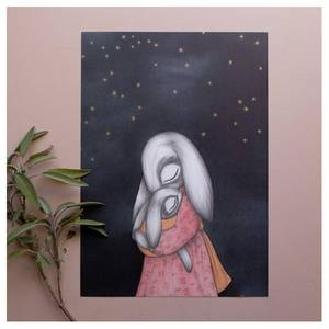 Bilde av Kajsa Wallin art print A4 Night Sky