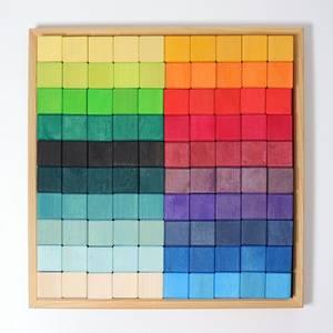 Bilde av Grimm's regnbuemosaikk 100 klosser
