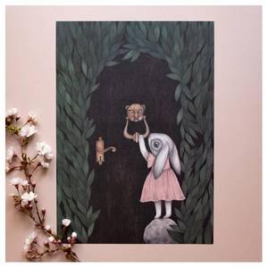 Bilde av Kajsa Wallin art print A4 The Secret Door