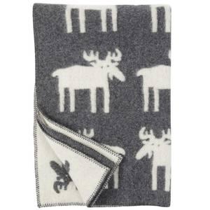 Bilde av Klippan ullpledd barn Moose grå 90x130 cm