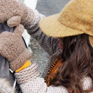 Bilde av Alwero ullvotter barn brun