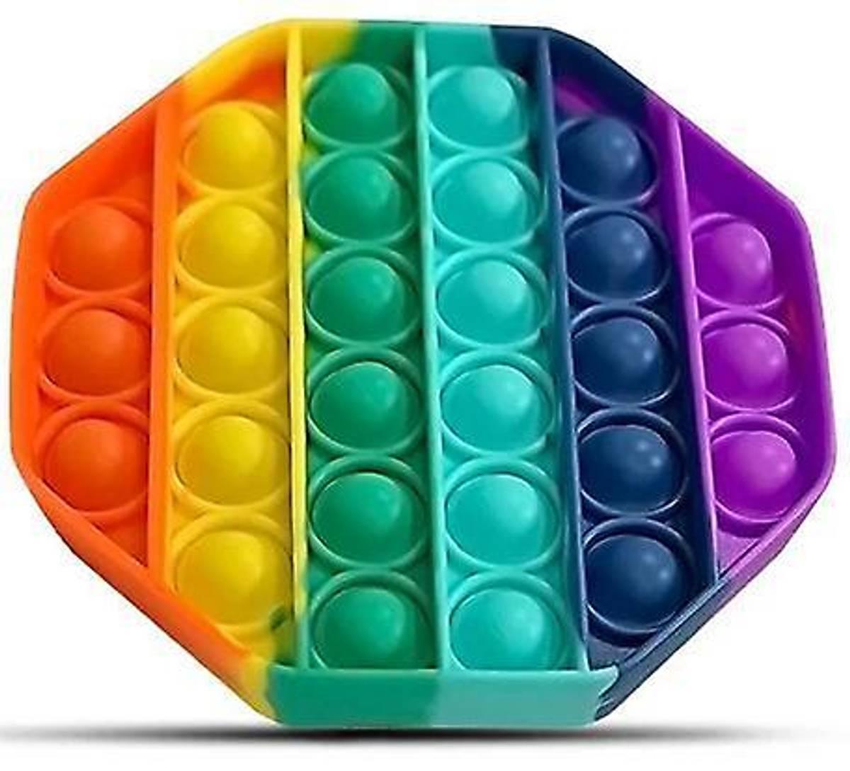 Pop it Fidget Rainbow - Åttekant