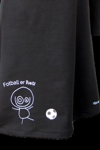 str 36 Fotball er livet ❤️ jerseykjole_sort/hvit