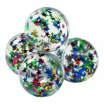Sprettball med glitterstjerner