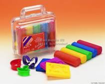 Plastelina / Modelleringsvoks i koffert, glitter