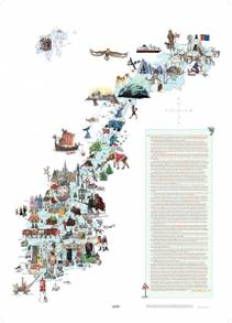 Plakat Norgeskart