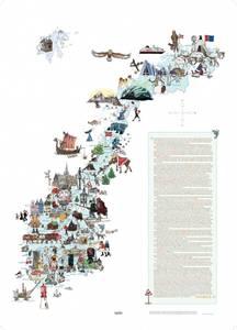 Bilde av Plakat Norgeskart