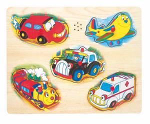 Bilde av Puslespill med kjøretøy