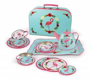 Bilde av Tesett i koffert '' Flamingo