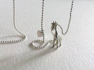 Bilde av Sølvsmykker, anheng med kjede