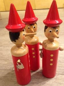Bilde av Pinocchio, sparebøsse i tre