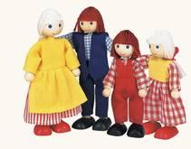 Dukkefamilie på fire