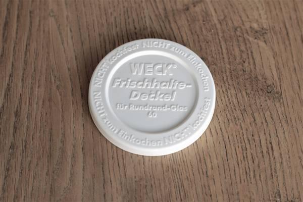 WECK® plastlokk (RR60) til glass med 6 cm åpning (5-pakning)