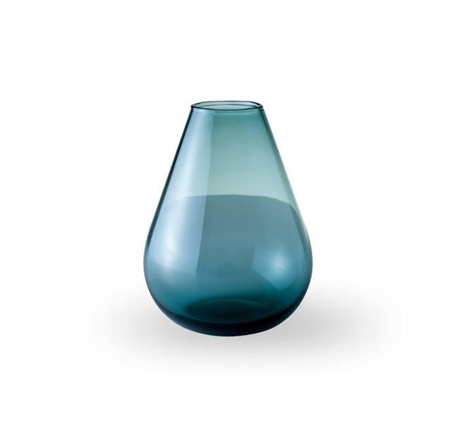Glass vase 15 cm - Falla klar blå