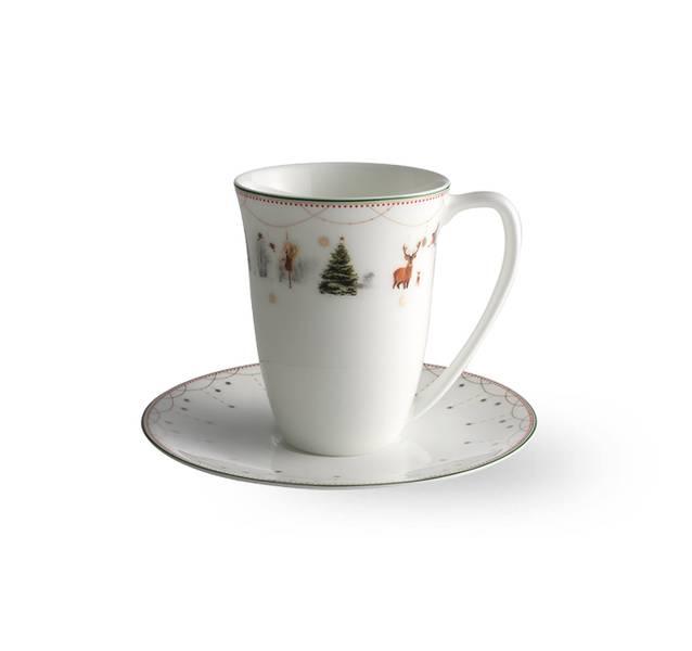 Kopp med skål 20 cl - Julemorgen