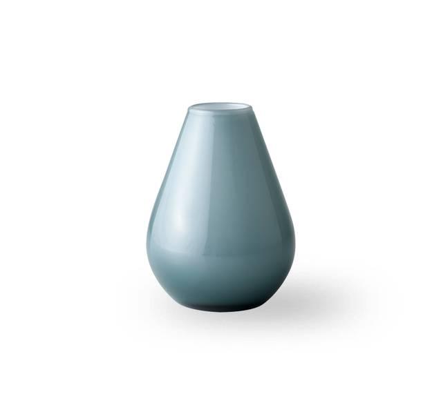 Glass vase 10 cm - Falla blå/hvit