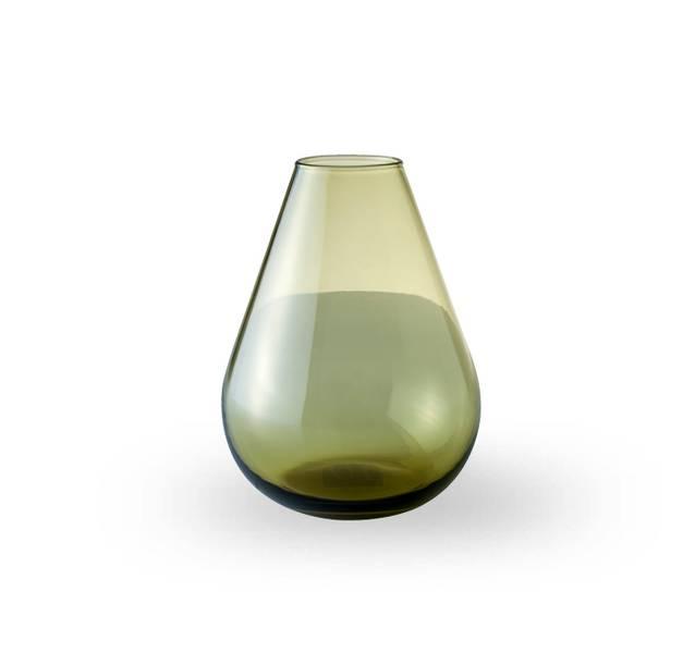 Glass vase 15 cm - Falla klar grønn