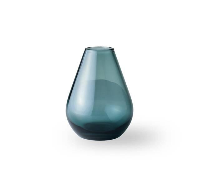 Glass vase 10 cm - Falla klar blå