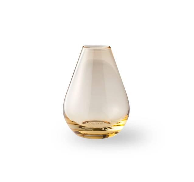 Glass vase 10 cm - Falla klar gul