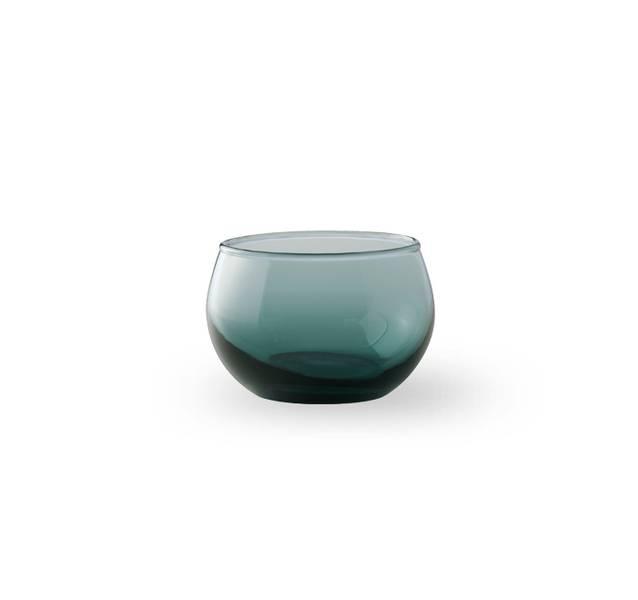 Glass lyslykt - Falla klar blå