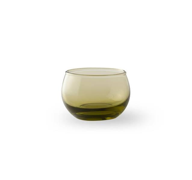 Glass lyslykt - Falla klar grønn