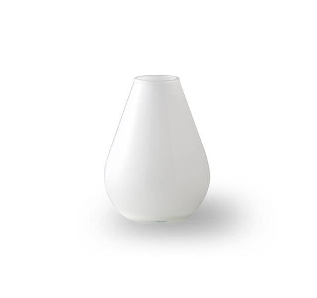 Glass vase 10 cm - Falla hvit