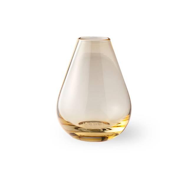 Glass vase 15 cm - Falla klar gul