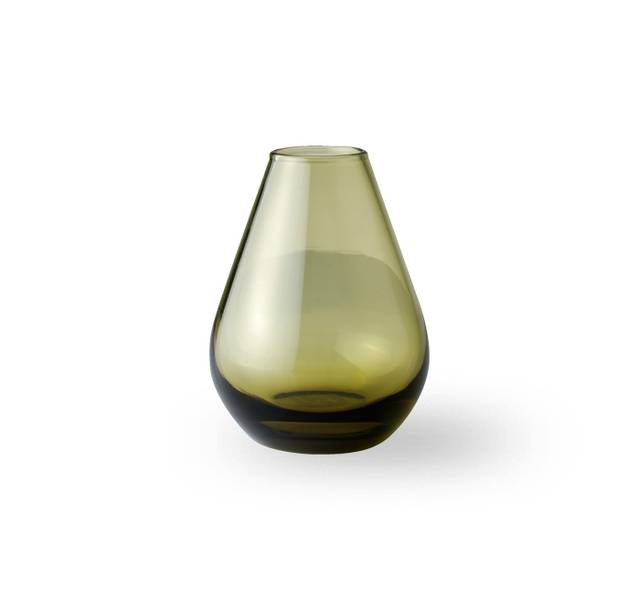 Glass vase 10 cm - Falla klar grønn